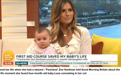 Daisy First Aid featured on ITV Good Morning Britain with Eammon Holmes and Kate Garraway