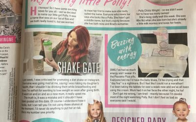 Amy Childs and Baby Polly- New! Magazine